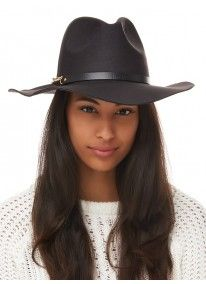 STYLE REPUBLIC | Chain Trim Fedora Black