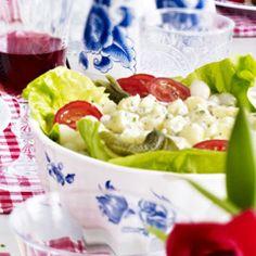 Aardappelsalade met ham en augurk