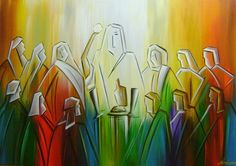 Pintura A Mão Santa Ceia 90x120 Cod 825