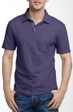 John Varvatos Star USA Trim Fit Slubbed Cotton Polo John Varvatos 7ee0a4b88