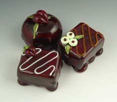 my glass chocolate beads chocolate