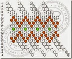 JPo-kulka9-6 Bead Crochet Patterns, Bead Crochet Rope, Beading Patterns, Bead Loom Designs, Beading Tutorials, Beading Ideas, Peyote Beading, Bead Weaving, Seed Beads