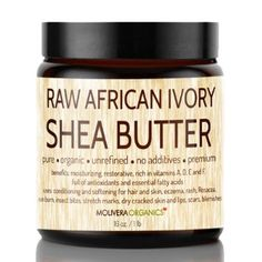Amazon.com: Shea Butter - Molivera Organics 16 Oz. Raw Unrefined African Organic Ivory Shea butter for Natural Skin Care, Hair Care and Body...