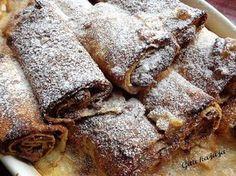 Chimichanga, Hungarian Recipes, Banana Bread, Pancakes, Food And Drink, Sweets, Meat, Baking, Cukor