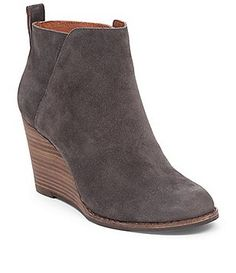 d35cc5d95d24 Lucky Brand Yezzah Wedge Bootie Wedge Booties Outfit