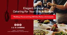 Catering Services, Wedding Catering, House Warming, Vegetarian Recipes, Birthday Parties, City, Food, Birthday Celebrations, Meal