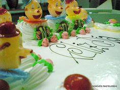 Detalle de tarta de payasitos