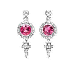 Theo Fennel White Gold, Tourmaline & Diamond Empress Earrings