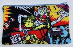 Funhouse Zipper Pouch - Zombie Clowns, Horror.