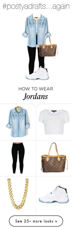 """""""Jordan 11"""" by winterismyname on Polyvore featuring Topshop, Retrò, CC SKYE, Louis Vuitton and Thchocolatewinter"""