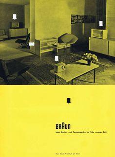 Braun catalogue, 1955. Graphic design: Otl Aicher.  products of the Hochschule für Gestaltung, Ulm, by Hans Gugelot.