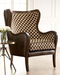 Cool contemporary wing chair.