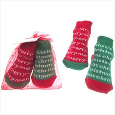 Double Colour Mix & Match Infant Socks with Merry Christmas by Soft touch on eBid United Kingdom