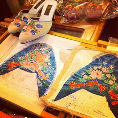 The making of a Peranakan hand-beaded slipper - @traveldivarita- #webstagram