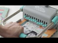 ▶ Cinch by We R Memory Keepers - YouTube - for wire bound or plastic spiral bound books