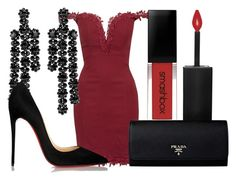 """""""FANTASY"""" by lucieednie ❤ liked on Polyvore featuring Topshop, Smashbox, Simone Rocha and Christian Louboutin"""