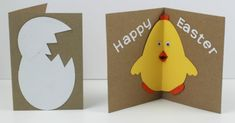 This Easter Chick card with pop-out beak is so fun to make and kids love them. There are a super fun kid made card with an added twist