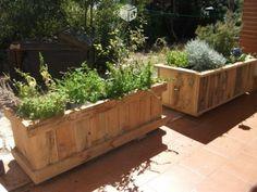 Macetera-jardinera de madera de palets en Madrid - Segundamano.es - 34845547