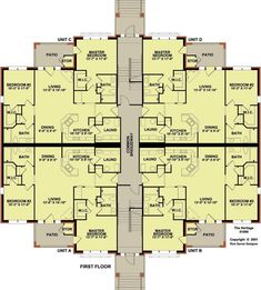 Outstanding 12 Unit Apartment Building Plan 3 Story 83117 D C Architectural Design Floor Main Level Cost Complex Indium Duplex Floor Plans, Apartment Floor Plans, Bedroom Floor Plans, House Floor Plans, Building Layout, Building Plans, Building Design, The Plan, How To Plan