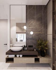 Serene Bathroom, Beautiful Bathrooms, Zen Bathroom, Modern Bathroom, Small Luxury Bathrooms, Bathroom Design Luxury, Bathroom Design Small, Interior Design Toilet, Italian Interior Design