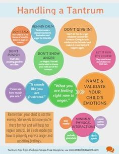 Tips for how parents can handle a Temper Tantrum using positive parenting! Found on infograph.venngage.com, repined by Proactive Parenting dot net.