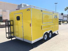 "CONCESSION TRAILER 16' x 8.5' EVENT FOOD CATERING BBQ RESTAURANT. 6' CONCESSION WINDOW WITH GLASS ANS SCREENS WITH FLIP UP COUNTERS OUTSIDE. ROOF/ CEILING: 2"" FIBER GLASS. 50 GAL WASTE WATER. 30 GAL FRESCH WATER. 