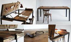 rustikaler-Schreibtisch-aus-Holztür-selber-bauen