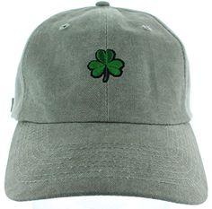 512dc0292f1 Dad Hat Cap - Shamrock Emoji Embroidered Adjustable Black Baseball Cap at  Amazon Women s Clothing store
