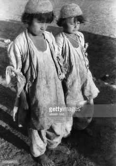 Two Yazidi Boys in the street, Turkey, 1930. Photographer: Leo Matthias- Published by: 'Die Gruene Post' 48/1930.