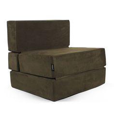 Puf cama convertible antelina rojo puf cama convertible pinterest convertible camas y - Puff convertible cama ...