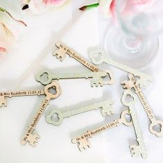 Papered Wedding Favour Keys