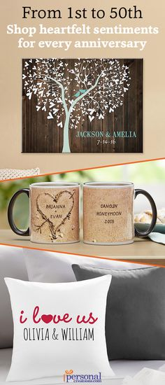 Anniversaries mark important milestones in any loving relationship. Make it truly one to remember with a personalized anniversary gift that's sure to wow! Check out our latest line-up of beautiful anniversary gifts and keepsakes and leave a lasting impression for years to come.