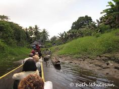 Canoeing down the Sepik River in Papua New Guinea.