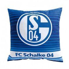 Kissen Streifen FC Schalke 04 - #Bundesliga, Fußball, #Soccer, #Fanartikel, #Bett, Schlafzimmer - http://www.multifanshop.de