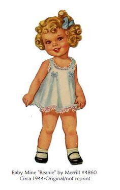 """Baby Mine Paper Doll """"Beanie"""""""