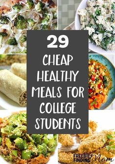 Tired of eating cafeteria food? These 29 Cheap Healthy Meals For College Students are not only easy to make and delicious but they are packed with nutrients that busy college students need. Here youll find vegetarian recipes chicken recipes seafood re Easy Healthy Recipes, Healthy Dinner Recipes, Healthy Cheap Meals, Cheap Vegetarian Meals, Healthy Student Recipes, Cheap Healthy Grocery List, Healthy Delicious Meals, Healthy Recipes For One, Healthy Meals With Chicken