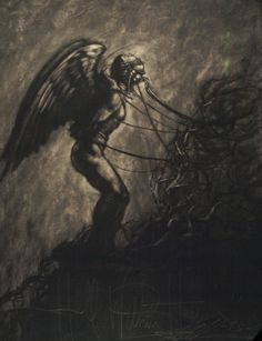 """""""Angel Trapped in Hell"""" by John U. Abrahamson - Fantasy art galleries at Epilogue.net - Fantasy and Sci-fi at their best"""
