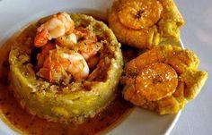 Mofongo relleno de camarones #PuertoRicanfood #foodporn