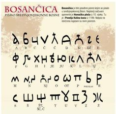 Bosnian Cyrillic, widely known as Bosančica, is an extinct type of Cyrillic alphabet that originated in Bosnia and Herzegovina.