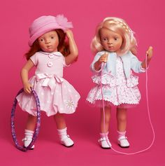 Sylvia Natterer's new dolls for Petitcollin are due to arrive soon!- Minouche Natalie and Minouche Joelle (right)
