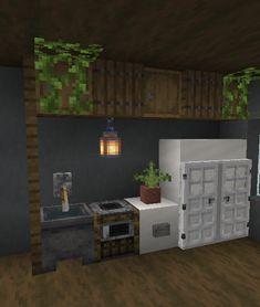 Simple Minecraft Builds, Minecraft Kitchen Ideas, Minecraft House Plans, Mine Minecraft, Minecraft Cottage, Easy Minecraft Houses, Minecraft Decorations, Minecraft Blueprints, Minecraft Creations