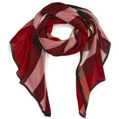 Women's Burberry Mega Check Silk Scarf (1.425 BRL) ❤ liked on Polyvore featuring accessories, scarves, burberry shawl, checkered scarves, pure silk scarves, burberry scarves and silk shawl