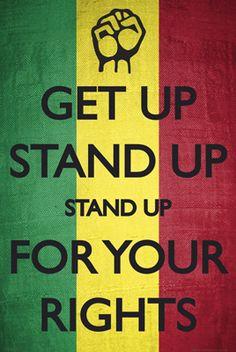 Get Up, Stand Up. Stand Up for your Rights. Bob Marley the reggae legend Bob Marley Songs, Bob Marley Quotes, Damian Marley, Jimi Hendrix, Historia Do Rock, Contexto Social, Jah Rastafari, Rastafari Quotes, Peter Tosh