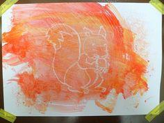 Activité: la peinture magique.