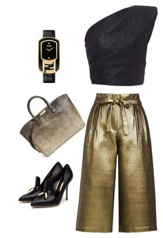 """""""Outfit Of The Day"""" by ivka-x on Polyvore featuring Monique Lhuillier, Rupert Sanderson, Burberry, Fendi and BCBGMAXAZRIA"""