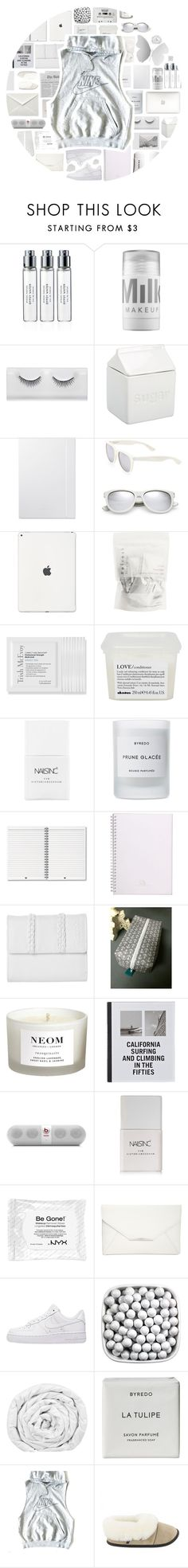 """""""Nike"""" by stelbell ❤ liked on Polyvore featuring Byredo, MILK MAKEUP, BIA Cordon Bleu, Yves Saint Laurent, Polaroid, CASSETTE, Trish McEvoy, Davines, Nails Inc. and Bench"""