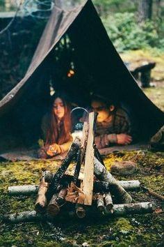 back to basic camping