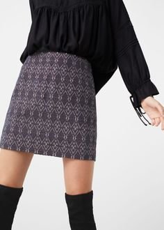 Embroidered skirt - Skirts for Women | MANGO USA