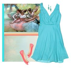 """Degas #2"" by paperdollsq ❤ liked on Polyvore featuring Trademark Fine Art, J.Crew, Vera Wang and Oscar de la Renta"