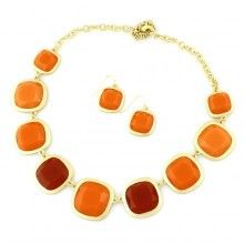 Burnt Orange Gemstone Necklace | Perfect Texas Necklace for $16